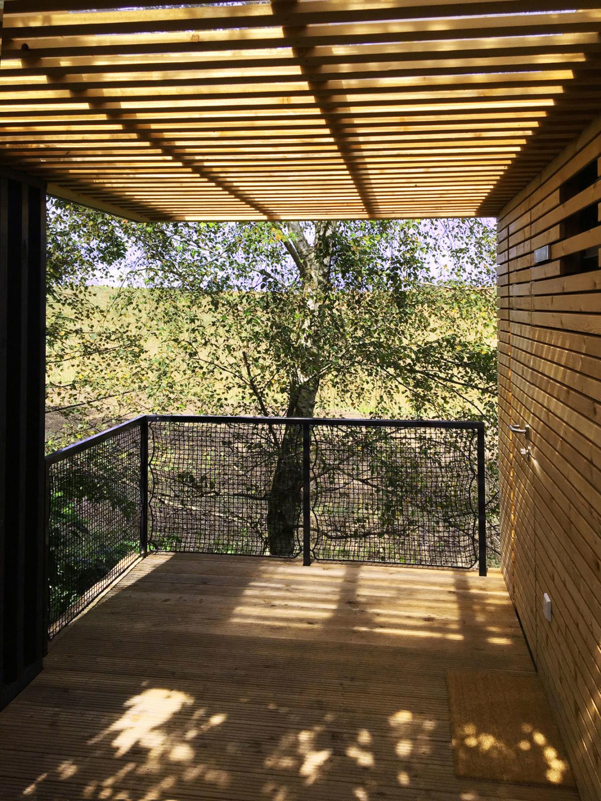 Moderne Sauna in Fertigbauweise vom Architekten
