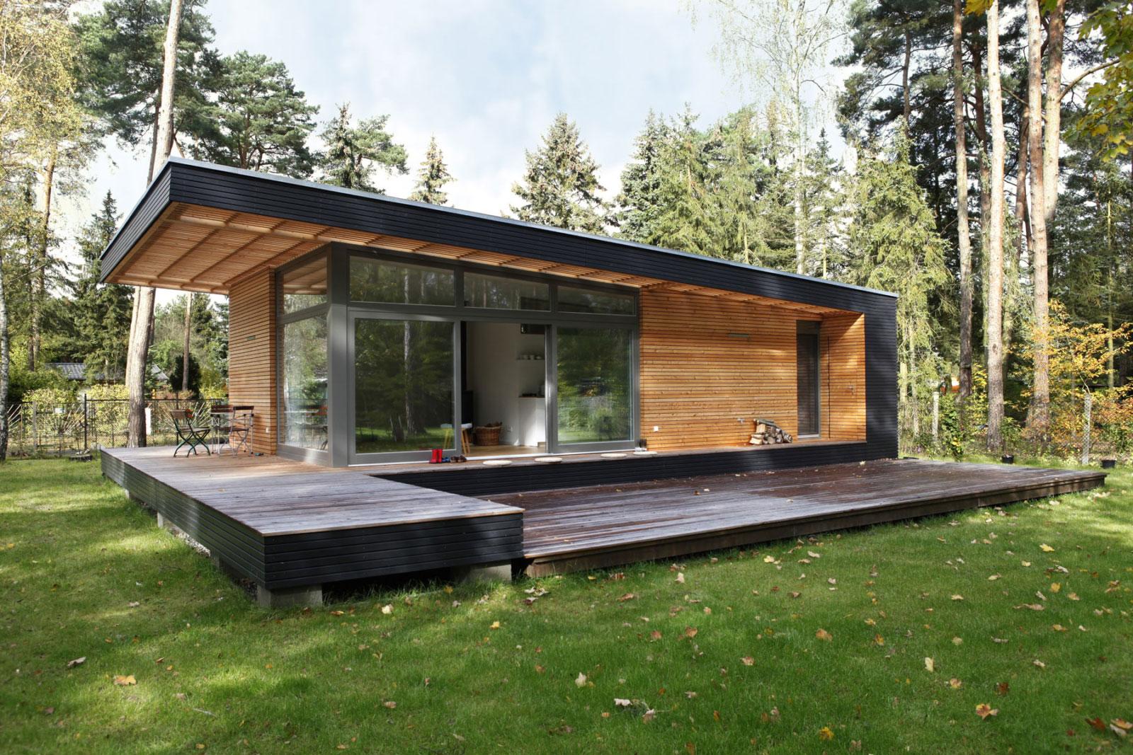 Vorgefertigtes Architektenhaus aus Holz